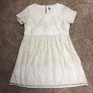 Old Navy women's lace dress lined L